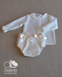 Diaper cover and blouse Mencia